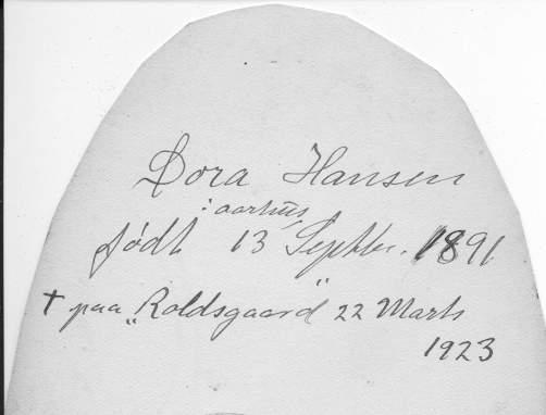 Theodora Hansen Bagside